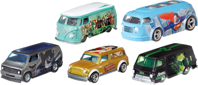Hot Wheels Alex Ross Colecionador Edição Limitada 5-Pack Dc Super Heroes Da Mattel