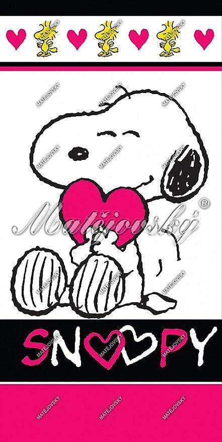 Snoopy Love toalla, toalla de baño 70 x 140 cm
