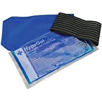 HypaGel Hot and Cold Reusable Gel Pack with Compress Sleeve & Elastic Wrap