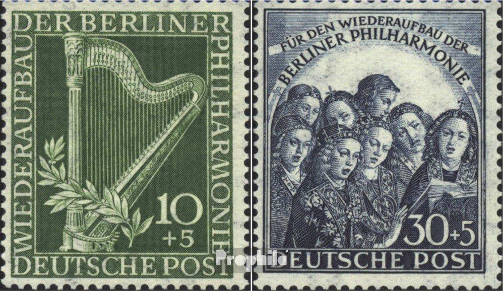 Prophila Collection Berlin (West) 72-73 (kompl.Ausg.) geprüft 1950 Philharmonie (Briefmarken für Sammler) Musik / Tanz