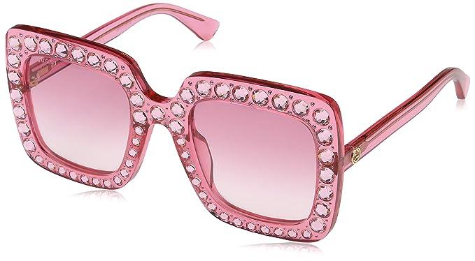 77252d2aa0 Gucci GG0148S 003 Gafas de sol, Rosa Pink, 53 para Mujer: Amazon.es: Ropa y  accesorios