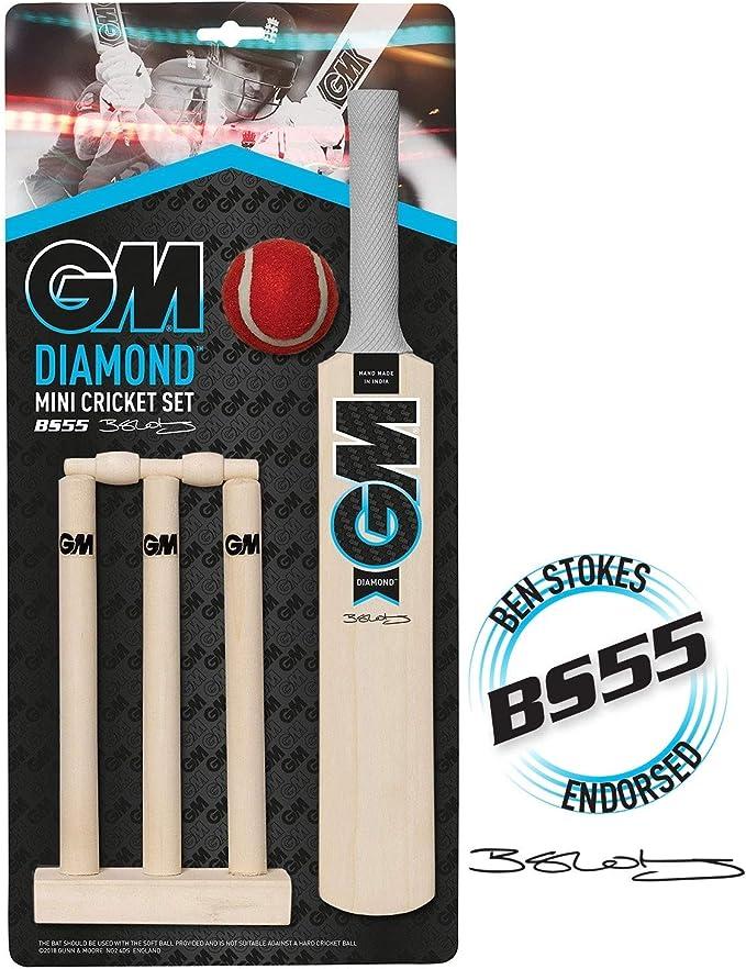 GM Opener Cricket Bat Set Kids Youth Gunn /& Moore 2019 Range