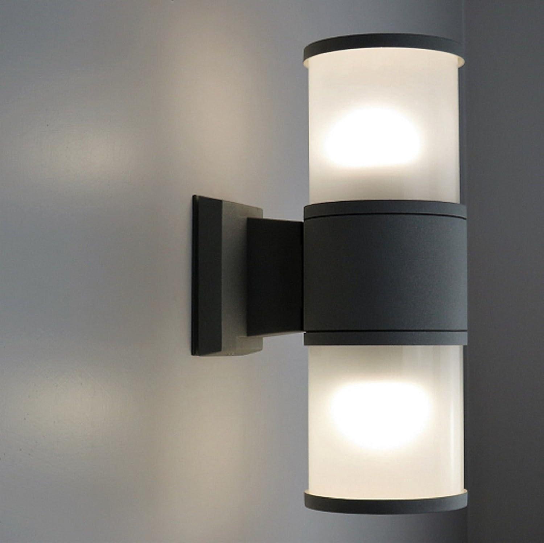 Wandleuchter Außen IP65 LED 20 W Doppel Streulicht Wandleuchte RGB RGBW – Licht RGB Finish Aluminium weiß