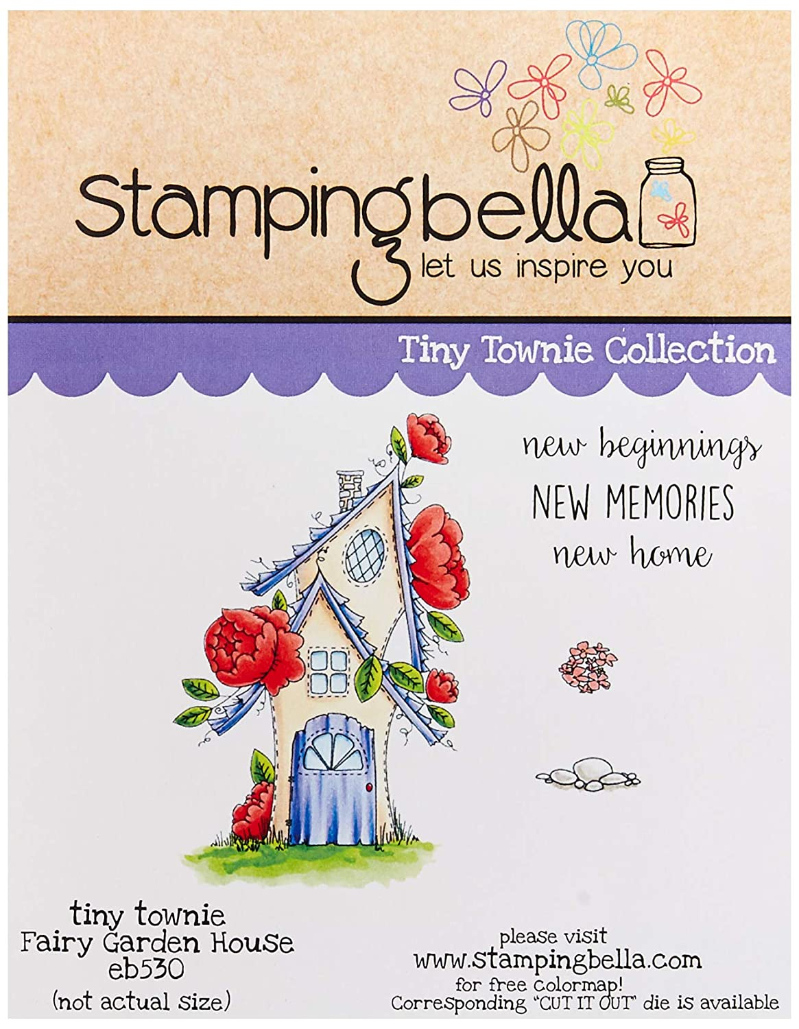 Stamping Bella EB530 Cling Stamps-Fairy Garden House