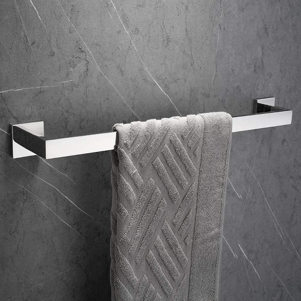 Cromato Melairy Bagno Anelli Portasciugamani 304 SUS Acciaio Inossidabile con Montaggio a Muro Design Moderno