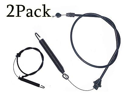 Amazon.com: Juego de 2 cables de embrague para Craftsman AYP ...