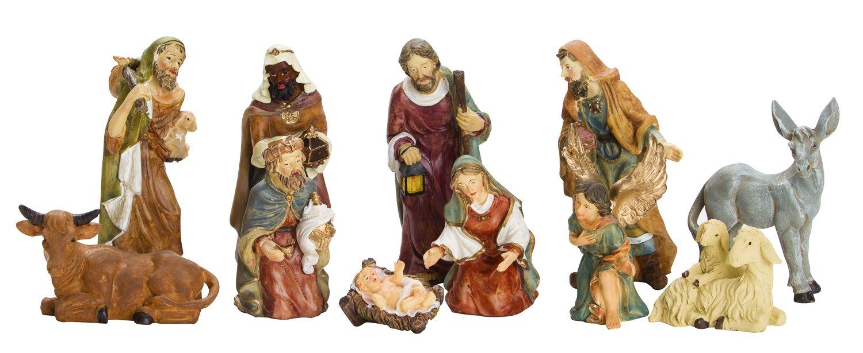 BRUBAKER Christmas Decoration Nativity Set - 3 Inch Nativity Set 11 Figurines in Real Life Nativity Set
