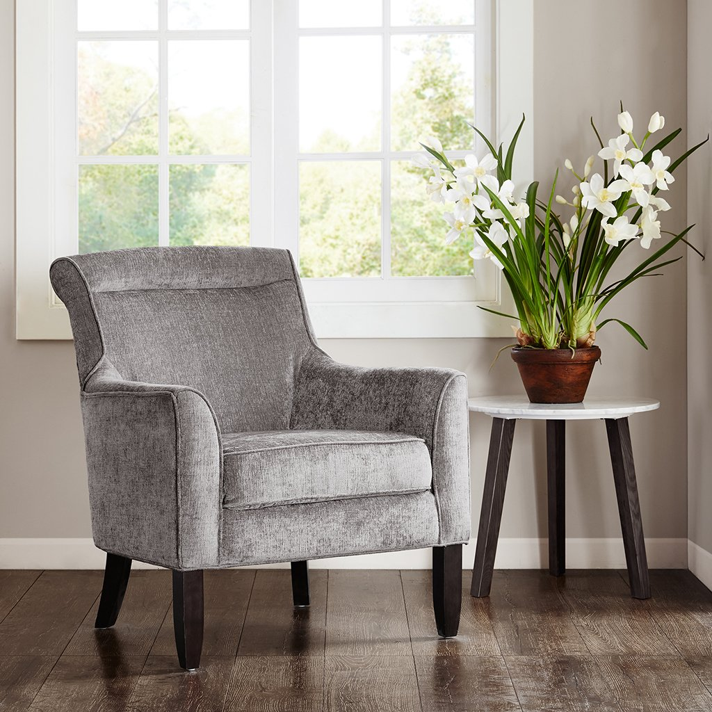 Amazon.com Madeline Bustle Back Accent Chair Grey See below Kitchen u0026 Dining & Amazon.com: Madeline Bustle Back Accent Chair Grey See below ...
