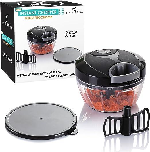 EE. UU. Mini instantánea de suministro de cocina picadora robot de cocina con tabla de cortar