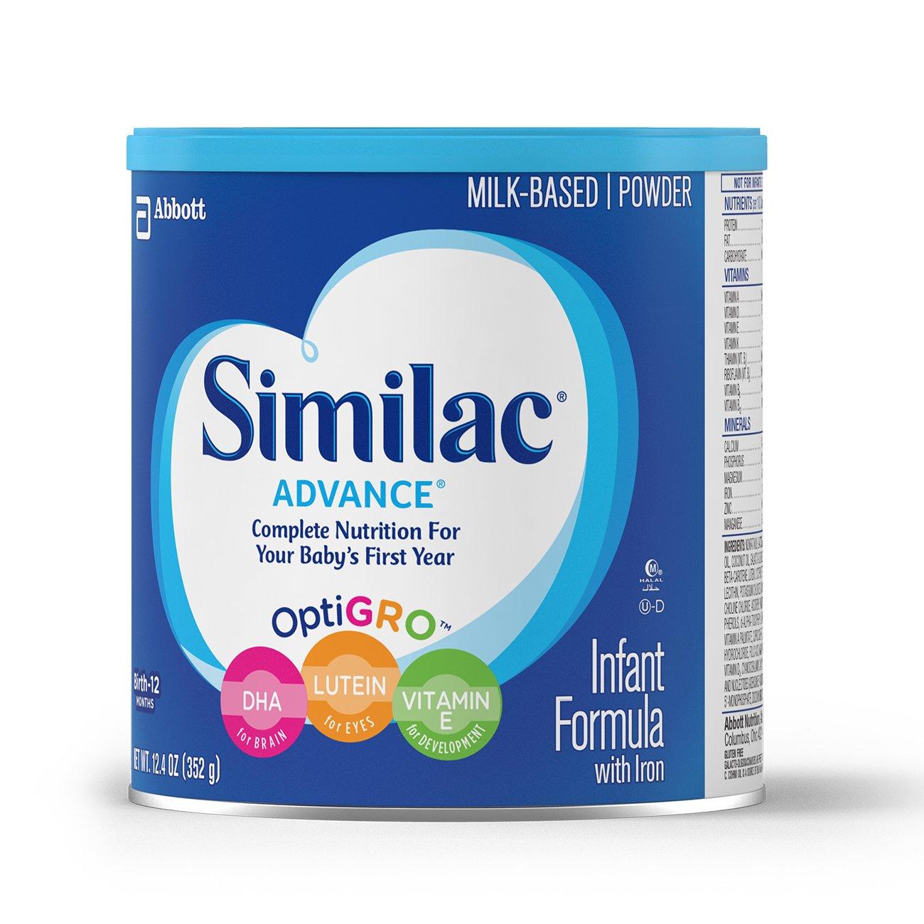 Similac Advance Infant Formula with Iron, Baby Formula, Powder, 12.4 oz (Pack of 6) by Similac (Image #10)