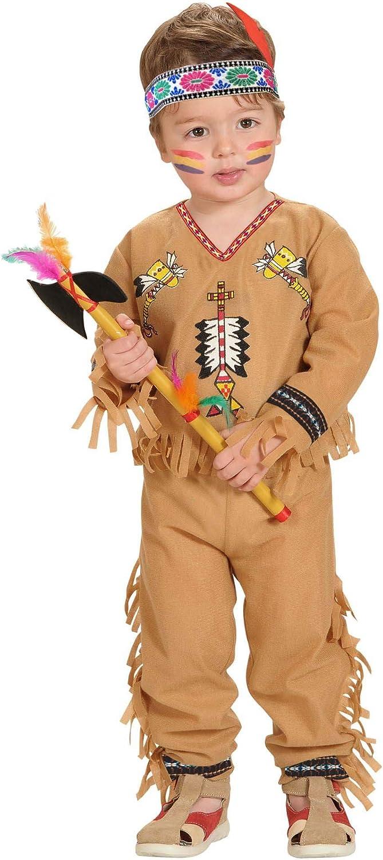 WIDMANN - Disfraz indio para niños, multicolor, 104 cm / 2 – 3 años, 48929
