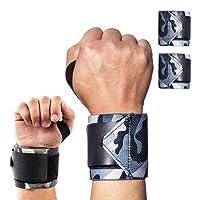 YHmall Handgelenk Bandagen [2er Set] 45cm Verstellbare Handgelenkbandage für Fitness, Bodybuilding, Krafttraining und Crossfit - Wrist Wraps für Damen und Herren, Camouflage