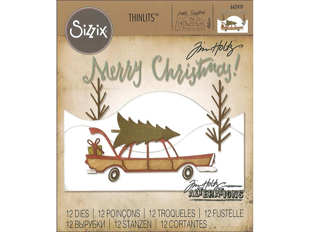 Sizzix THoltz Home for The Holidays TH Thinlits Die HomeHolidays Ellison SIZ662419