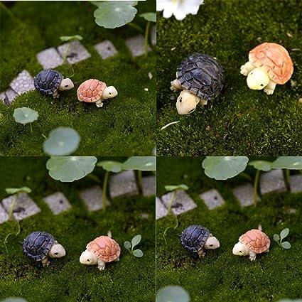 10Pcs Tortoise Model Dollhouse Bonsai Fairy Miniature Landscape Crafts Decor Set