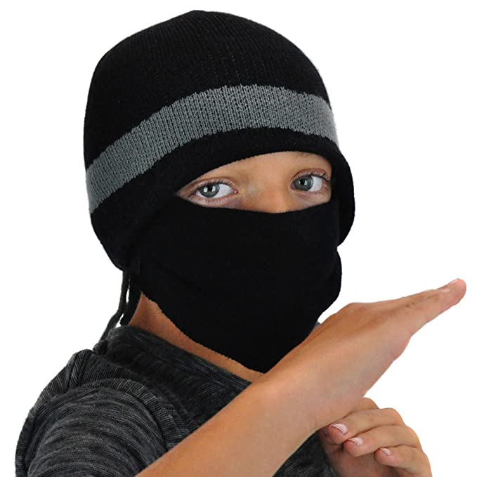 Amazon.com  Cool Ninja Beanie Winter Hat Removable Mask - Ski ... 240c2908b11