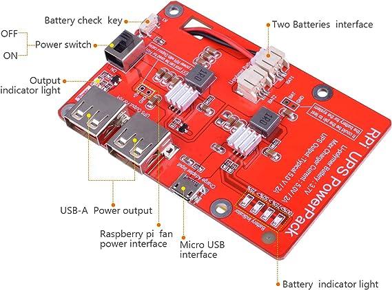 Kuman batería de Litio Pack expansión Junta Fuente de alimentación ...