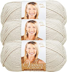 Lion Brand Vanna's Choice Yarn (3-Pack) Linen 860-99