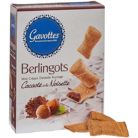 Gavottes - Berlingots - Barquillos rellenos de cacao con avellanas