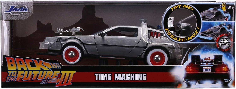 253255027 JADA TOYS Time Machine Ritorno al Futuro 3 in scala 1:24 con luci + 8 anni die-cast