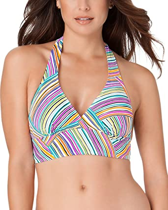 87fd715c6 Amazon.com  Anne Cole Womens Stripe Halter Top