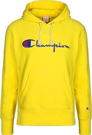 797cbf28c8078 Champion - Sweat-Shirt - Homme Jaune Citronier XX-Large: Amazon.fr ...