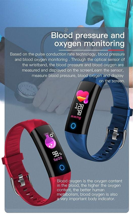 Rastreador de actividad física, Rastreador de actividad con monitor de ritmo cardíaco, Banda impermeable inteligente con contador de pasos, Reloj podómetro ...
