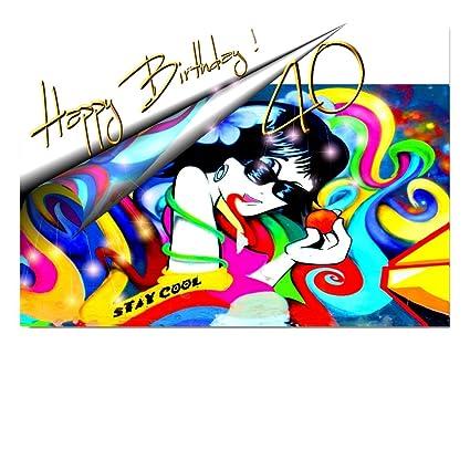 DigitalOase - Tarjeta de felicitación de 40 cumpleaños ...