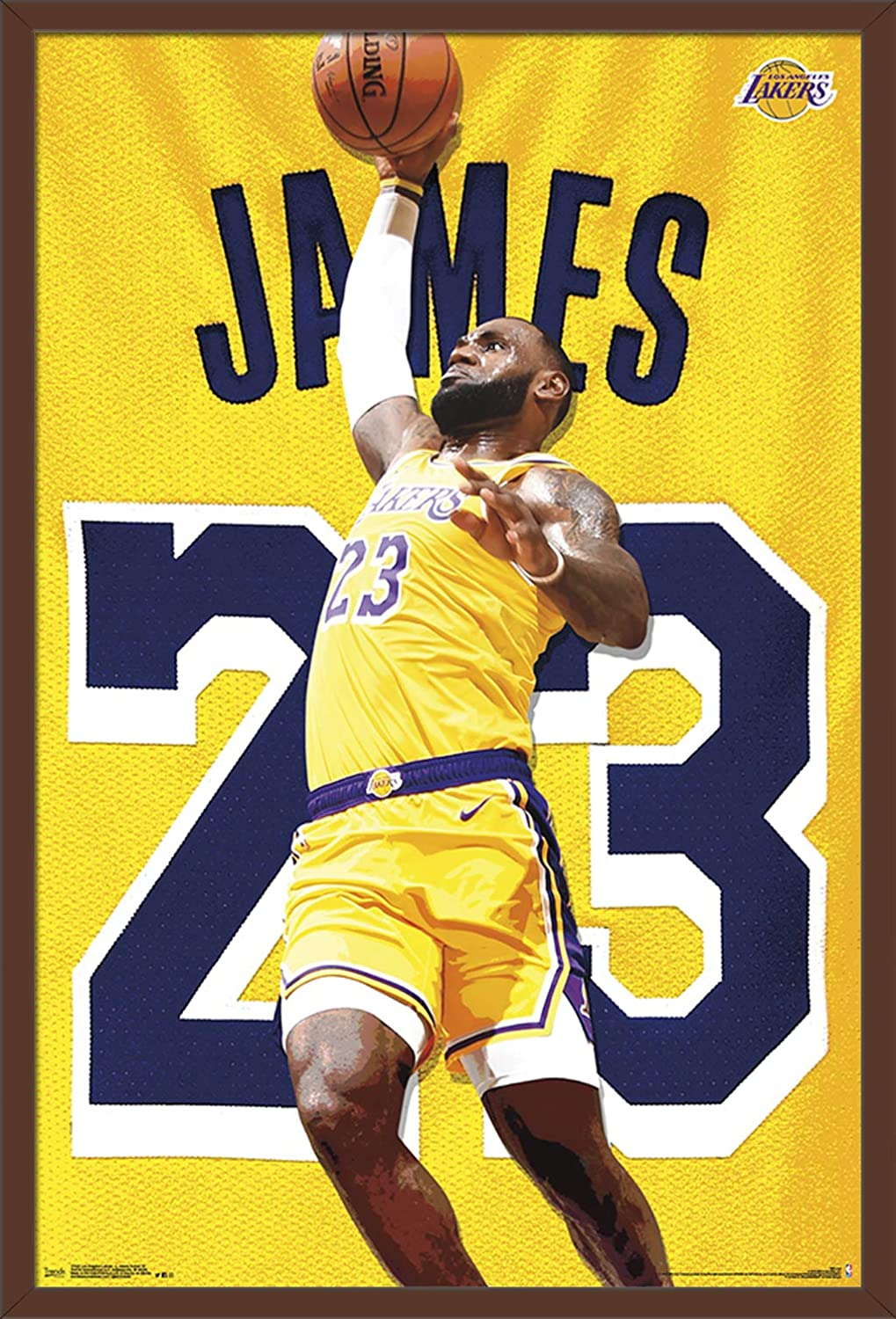046c25cc475d4 Trends International Los Angeles Lakers - Lebron James Action Wall Poster,  22.375