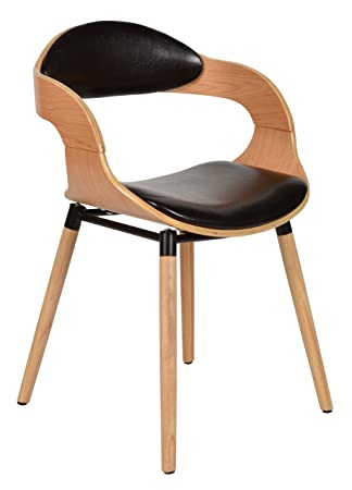 Ts Ideen 1x Design Club Sessel Esstisch Küchen Esszimmer Stuhl Sitz In  Kunstleder Schwarz +