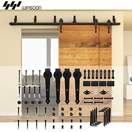Amazon Winsoon Steel Double Bypass Sliding Barn Door Hardware