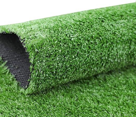 YNFNGXU Césped Artificial al Aire Libre Alfombra 12mm Pila Césped Verde Encriptado Césped Sintético Jardín Realista Natural (1 M X 2 M) (Size : 2x12m): Amazon.es: Hogar