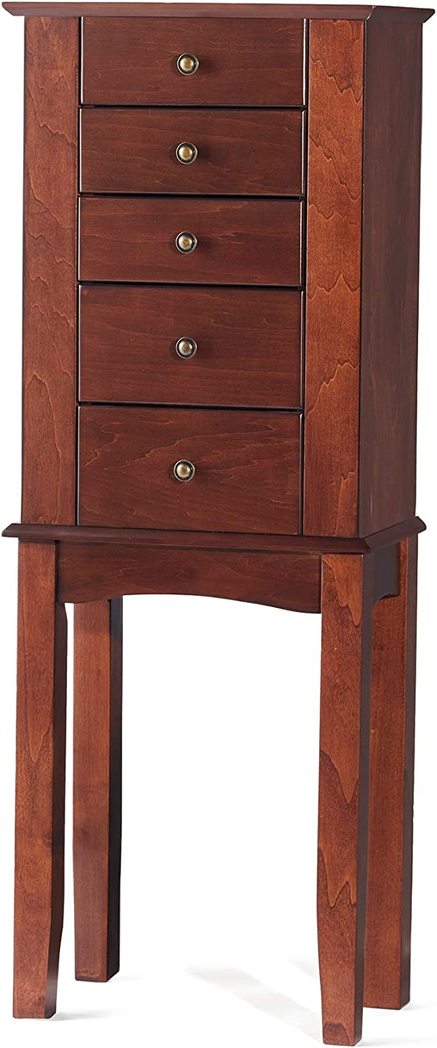 Amazon Com Ross Simons Walnut Simple Tradition 4 Drawer Jewelry