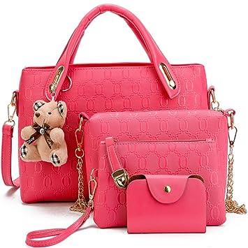 162ec6dfc76d Buy FiveloveTwo Women 4Pcs Top Handle Satchel Hobo Pu Leather ...