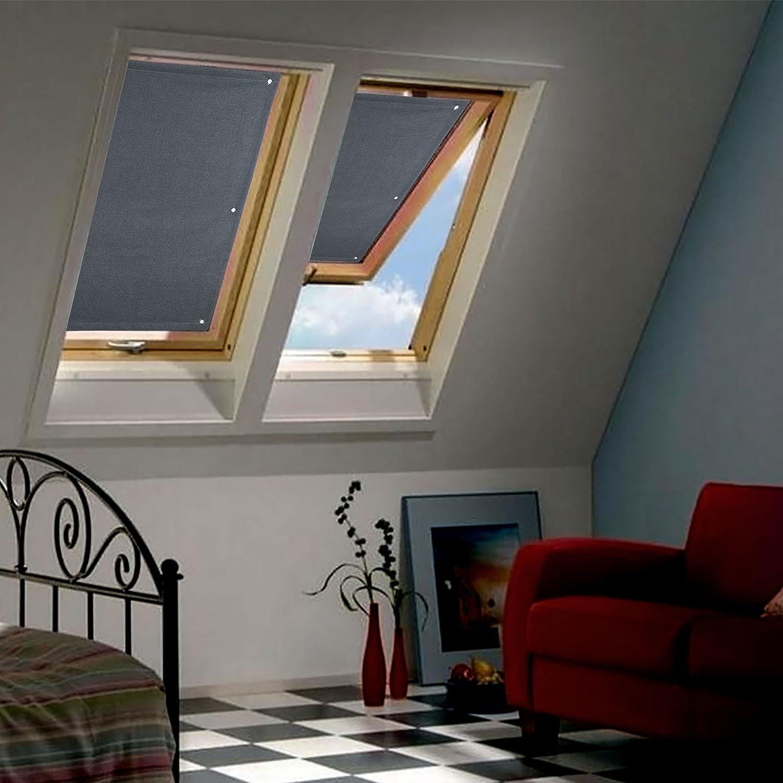 Wohl-H 96 * 120cm Gris foncé Store pour Fenêtre de Toit Velux Rideau ...