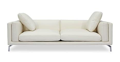 Amazon.com: kardiel Basil moderno sofá LOFT, Premium de piel ...