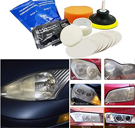 Buy Diy Crafts 14 Pieces Suv Car Headlight Restoration Kit For