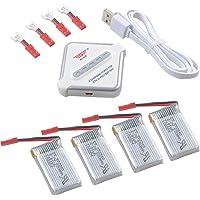 Crazepony-UK 4pcs 1S Lipo 3.7V 650mAh 25C Bateria