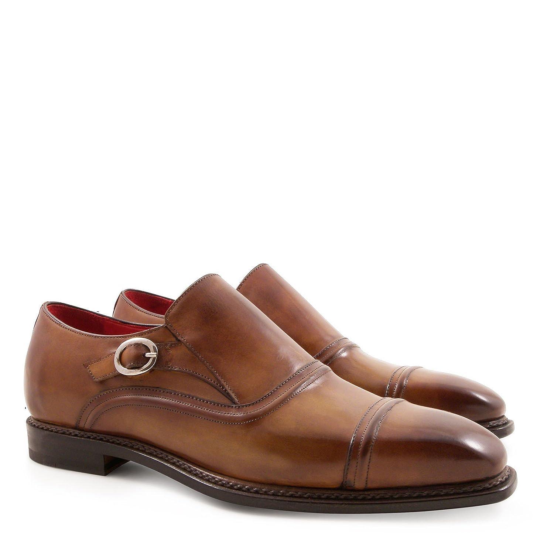 Bspringaaaa män Monksfälla Loafers Handgjorda i äkta läder
