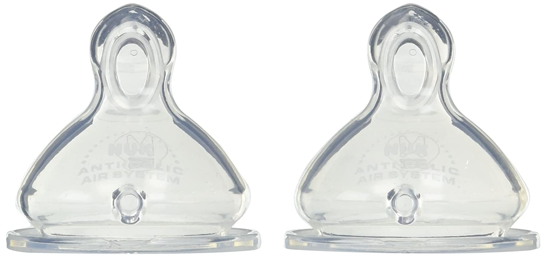 NUK Silicone Orthodontic Nipples, Medium, 0m+, 2 Pack by NUK: Amazon.es: Bebé