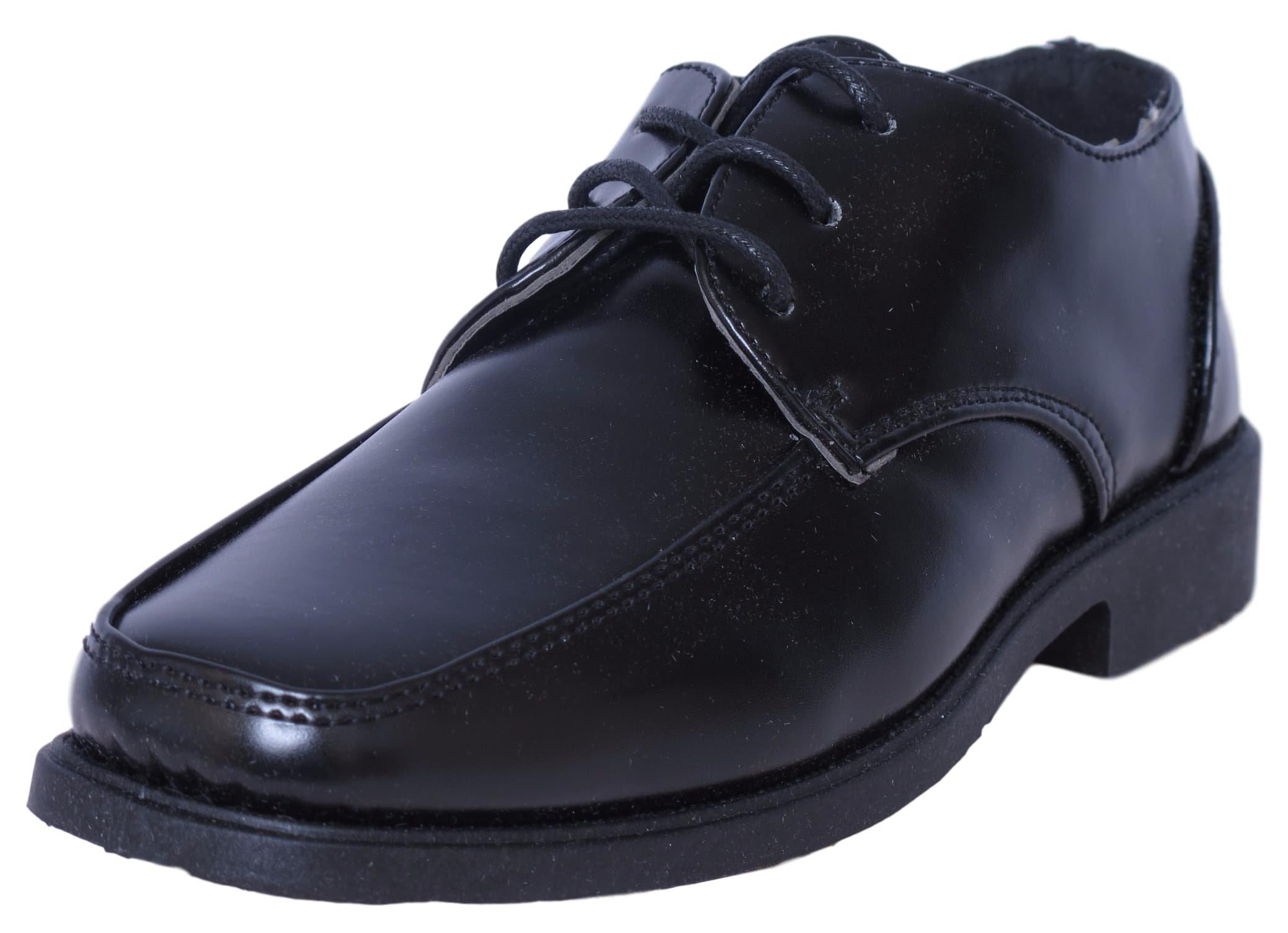 Josmo Boys Lace-up Dress Shoes, Black Size 1'