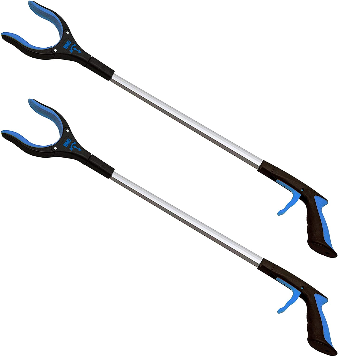 2-Pack 32 Inch Extra Long Grabber Reacher with Rotating Jaw - Mobility Aid Reaching Assist Tool (Blue): Health & Personal Care