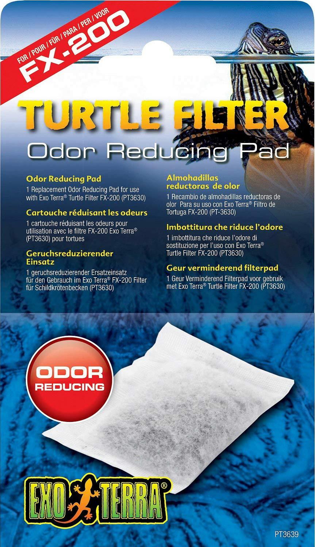 Exo Terra Turtle Filter Odor Reducing Pad 12pk by Exo Terra