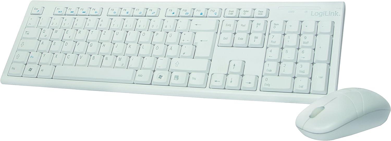 LogiLink ID0104W - Set de teclado y ratón (2,4GHz, con ratón óptico de 3 botones, conexión Autolink) blanco (importado de Alemania)