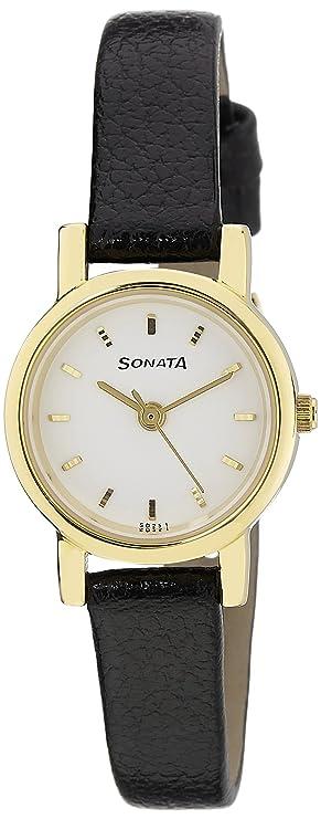 Sonata Analog White Dial Women's Watch