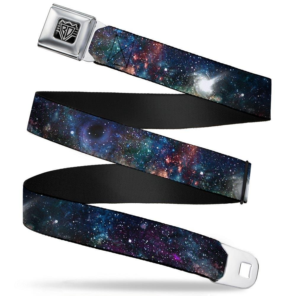 Black Buckle-Down Seatbelt Belt 1.0 Wide 20-36 Inches in Length