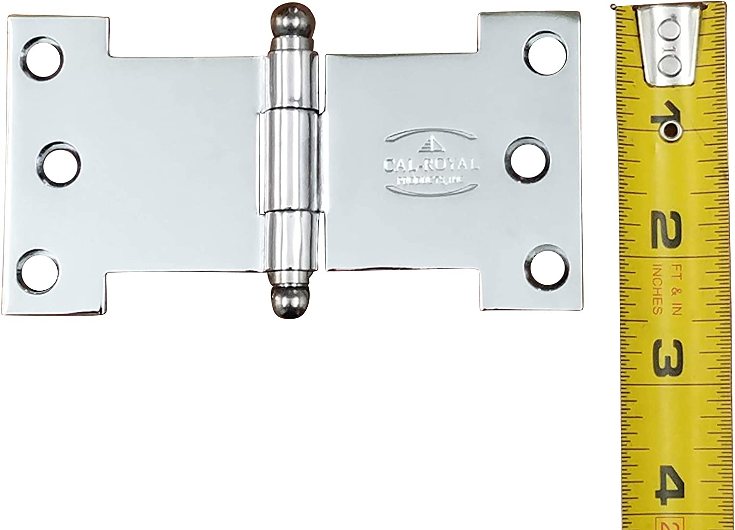 4 5//8 Inch x 2.5 Inch 2 Pack or Windows Shutters Polished Brass Parliament Hinges for Doors
