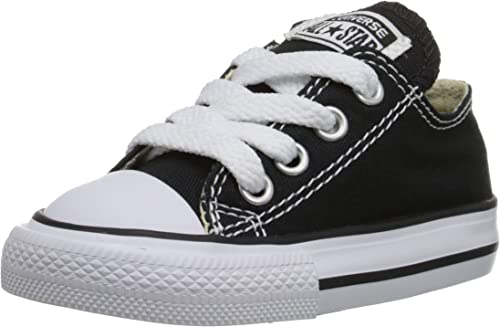 SHIPS Fast! Converse Point Star Youth Size 11C Ox Lace Up Shoes Black White
