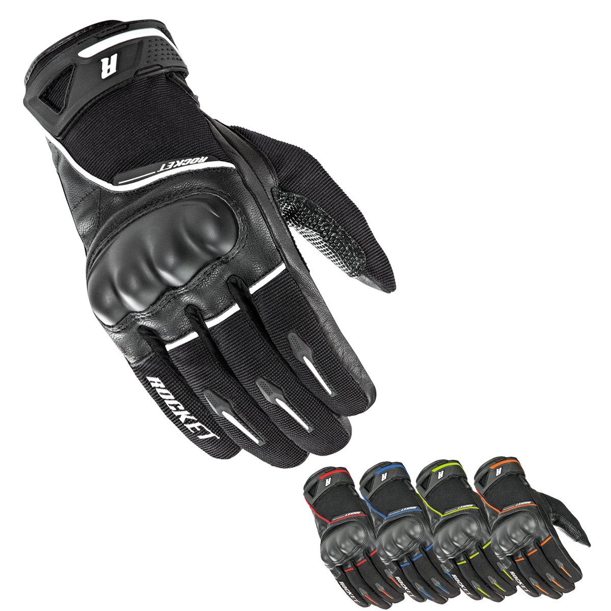 Joe Rocket Men's Super Moto Motorcycle Gloves (Black/Blue, Large)