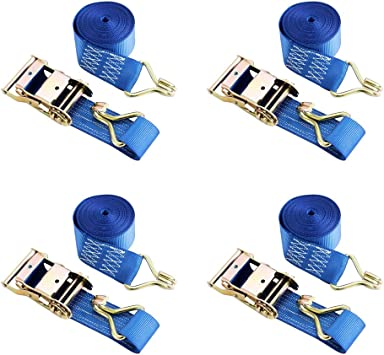 SET of 10 RATCHET TIE DOWN STRAPS 6M 35 mm 2T 2000 KG HEAVY CARGO TRUCK