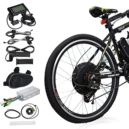 Electric Bike Motor >> Amazon Com Voilamart 26 Rear Wheel Electric Bicycle